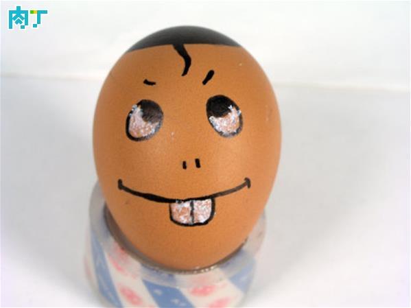 文艺的蛋蛋画 鸡蛋壳上的笑脸图片大全