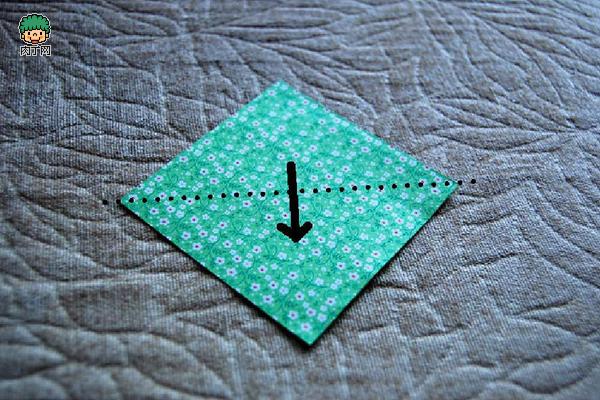 精致可爱的幸运草折纸方法图解 简单易学的折纸图片教程