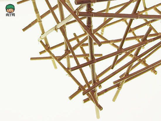 一次性筷子手工制作创意果篮,杂物架和小收纳
