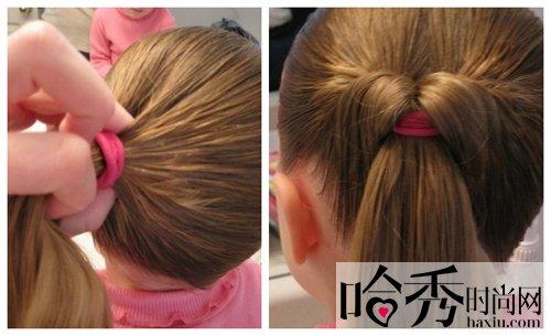 儿童发型扎法教程 可爱发型这样diy