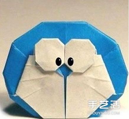 如何折纸哆啦a梦的方法 哆啦a梦的折法步骤图