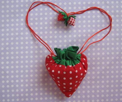 布艺教程 可爱小草莓环保袋制作方法